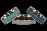 Wood and Stone Inlay Rings