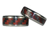 Red Carbon Fiber Titanium Ring Bands - Hawaii Titanium Rings  - 4
