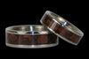 Red Tigers Eye Titanium Ring Set - Hawaii Titanium Rings  - 3
