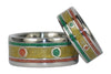 Rasta Titanium Rings One Love - Hawaii Titanium Rings  - 4
