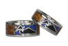 Oceanview Hawaii Titanium Rings with Diamond Star and Opal Moon - Hawaii Titanium Rings  - 4
