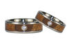 Spotlight Diamond Titanium Wedding Ring Set - Hawaii Titanium Rings  - 2