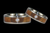 Spotlight Diamond Titanium Wedding Ring Set - Hawaii Titanium Rings  - 1