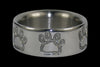 Titanium Ring with Bear Claws or Puppy Paws - Hawaii Titanium Rings