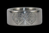 Celtic Heart Engraved Titanium Ring - Hawaii Titanium Rings  - 2