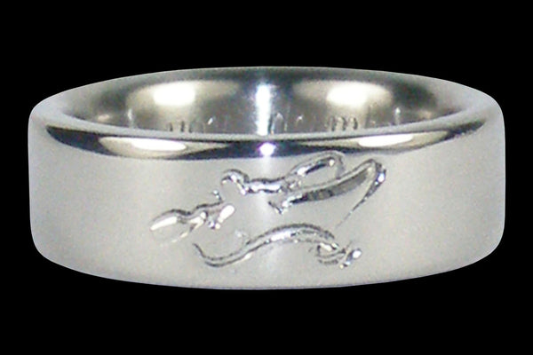 Kayak Engraved Titanium Ring Band