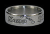Hawaii Titanium Rings Kona Hawaii Island Chain Engraved Ring - Hawaii Titanium Rings