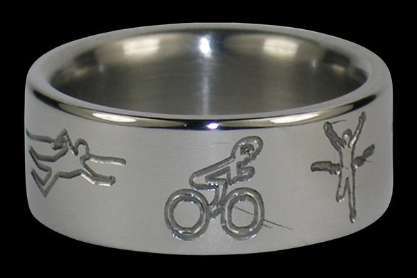 Triathlete Titanium Ring Band