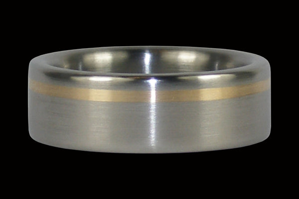 Gold Inlay Titanium Ring Band