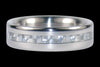 White Carbon Fiber Narrow Inlay Titanium Ring Band - Hawaii Titanium Rings  - 2