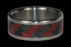 Red Carbon Fiber Titanium Ring Bands - Hawaii Titanium Rings  - 2