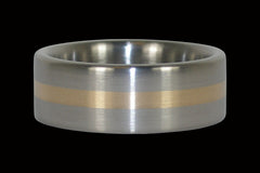 Gold Inlay Titanium Ring Band for Men and Women - Hawaii Titanium Rings