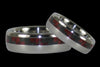 Red Carbon Fiber Titanium Ring - Hawaii Titanium Rings  - 2