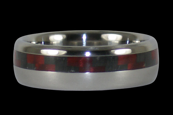 Red Carbon Fiber Titanium Ring