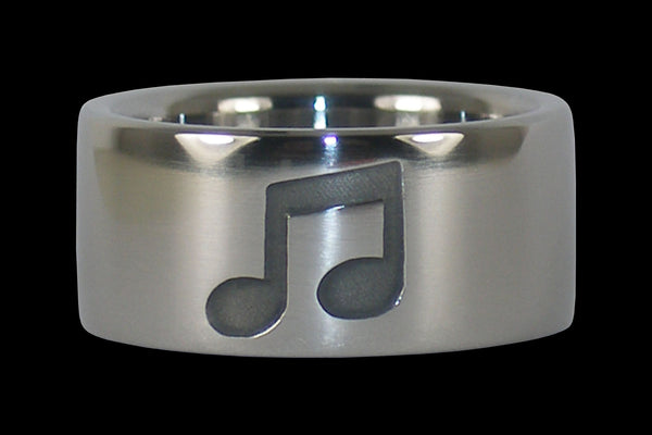 Music Note Titanium Ring