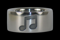 Music Note Titanium Ring - Hawaii Titanium Rings  - 1