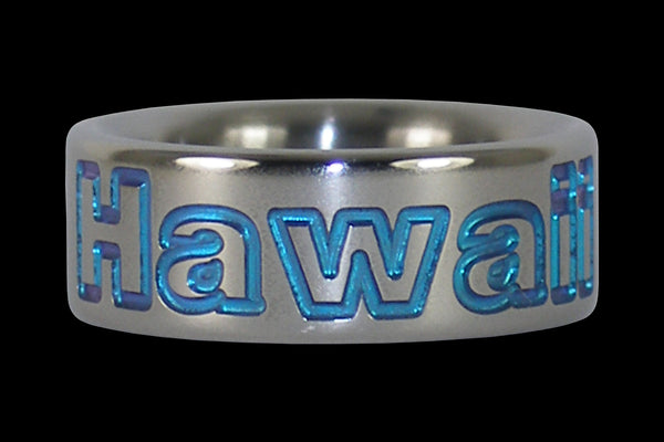 Blue Hawaii Titanium Ring