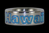 Blue Hawaii Titanium Ring - Hawaii Titanium Rings