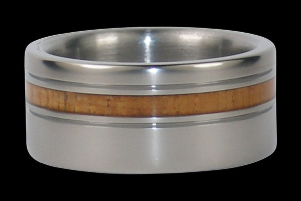 Light Koa Titanium Ring