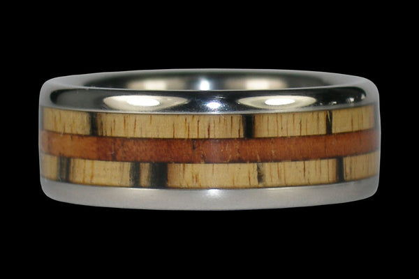 Koa and Ebony Hawaii Titanium Ring®