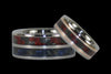 Red and Blue Carbon Fiber Titanium Ring - Hawaii Titanium Rings  - 2