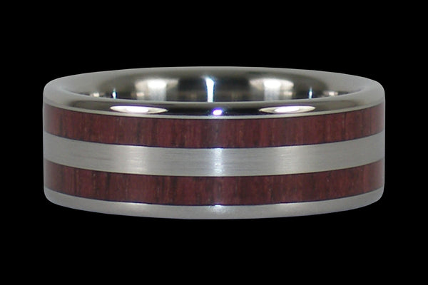 Purpleheart Titanium Ring Band