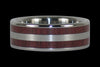 Purpleheart Titanium Ring Bands - Hawaii Titanium Rings  - 3
