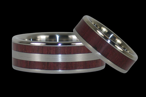 Purpleheart Titanium Ring Bands