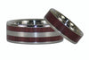 Purpleheart Titanium Ring Bands - Hawaii Titanium Rings  - 4