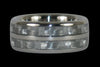 White Wedding Titanium Ring Band - Hawaii Titanium Rings  - 1