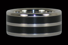 Wide Black Ebony Titanium Ring Band - Hawaii Titanium Rings  - 1