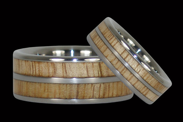 Mango Wood Titanium Rings
