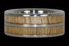 Mango Wood Titanium Ring with Double Inlay - Hawaii Titanium Rings  - 2
