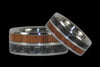 Gray Carbon Fiber and Koa Titanium Ring - Hawaii Titanium Rings  - 2