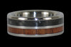 Carbon Fiber and Koa Titanium Rings - Hawaii Titanium Rings  - 3