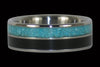 Black Ebony and Turquoise Titanium Ring - Hawaii Titanium Rings