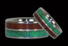 Padauk and Green Lab Opal Titanium Ring - Hawaii Titanium Rings  - 2