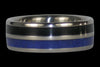 Black Wood and Blue Lapis Titanium Ring - Hawaii Titanium Rings