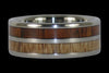 Mango and Dark Koa Wood Titanium Ring - Hawaii Titanium Rings  - 1