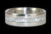 White Ulexite Titanium Ring Band - Hawaii Titanium Rings  - 2