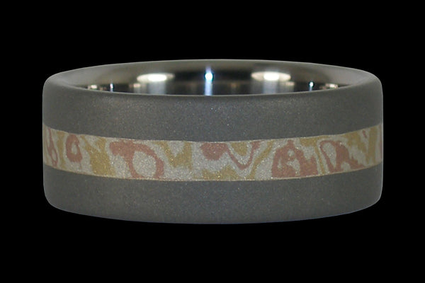 Mokumegane Inlay Ring with Matte Finish