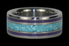 Sleeping Beauty Turquoise and Sugilite Titanium Ring - Hawaii Titanium Rings  - 2