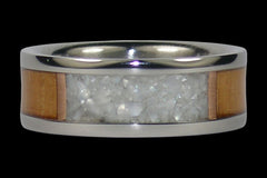Mother of Pearl Titanium Ring - Hawaii Titanium Rings