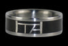 Black Matrix Titanium Ring - Hawaii Titanium Rings  - 2