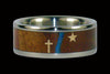 Christian Titanium Ring with Gold Cross and Star - Hawaii Titanium Rings  - 2