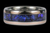 Black Opal and Rose Gold Titanium Ring - Hawaii Titanium Rings  - 3