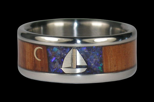 Sailboat Titanium Ring