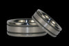Titanium Ring with Matted Grooves 9 - Hawaii Titanium Rings  - 4