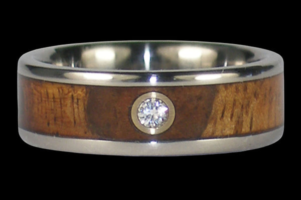 Spotlight Diamond Titanium Wedding Ring