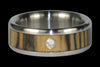 Ebony Titanium Diamond Ring Band - Hawaii Titanium Rings  - 1